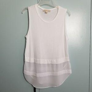 Michael Kors sleeveless white top size S -N2